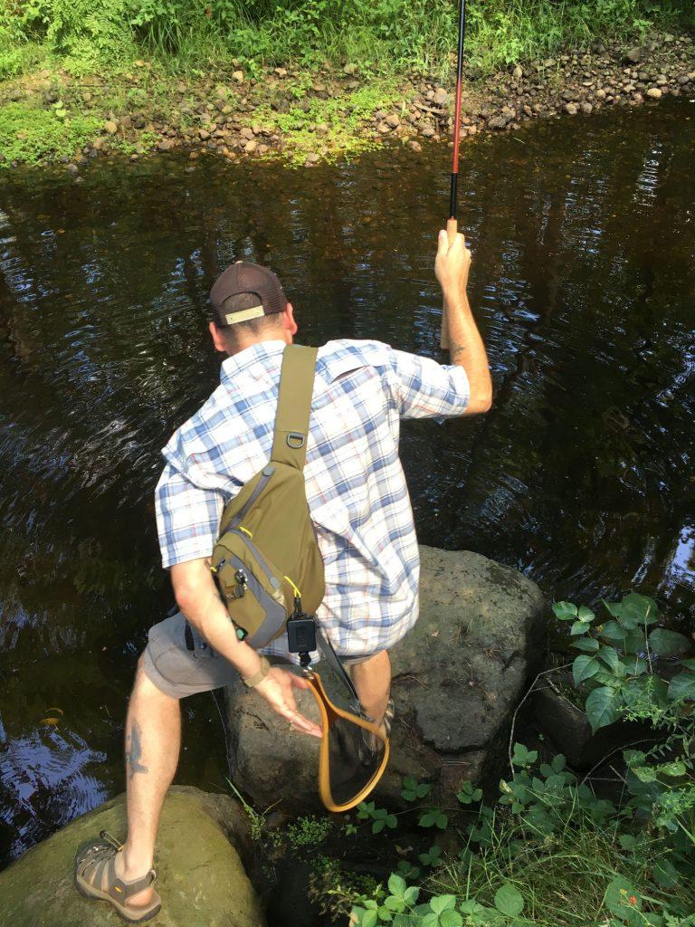 Catching Sea Run Brook Trout