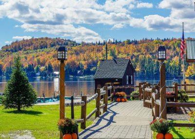lodge walkway